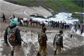 tight securty arrangements for amarnath yatris 200 companies attached