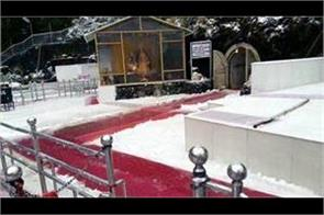 fresh snowfall in vaishno devi