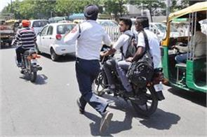 a challan of 32 thousand was cut when a bullet sounded like a cracker