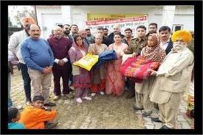 punjab kesari distribute reilfe in gandali village