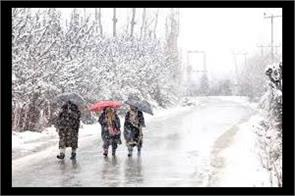 rain and snowfall on jk from 3 march