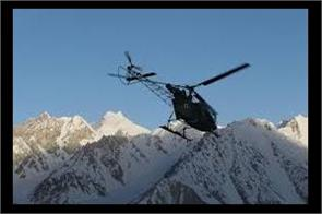 helicopter service demand by people stuck in snowbound areas
