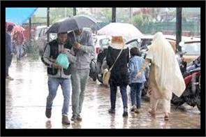 rain in kashmir from tomorrow