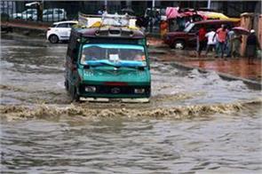 rain water create water lodge in kashmir
