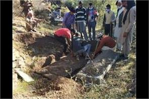 police dig the grave of a youth to solve case in poonch