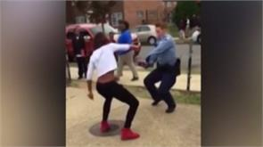 us teen and cop battle in nae nae dance off