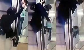 russian girl slips out of her aunt hand and falls 2 floors