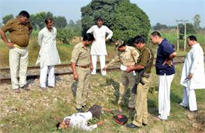 the young man committed suicide by jumping in front of the train causing discomfort