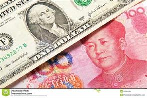 the sharp fall in the chinese currency against the us dollar