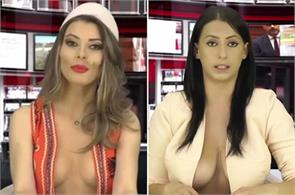topless newsreader miss bracajs albanian greta hoxha