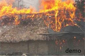 25 houses fired in kashmir
