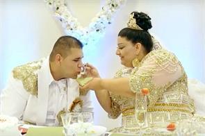 slovakian 19 year old bride wears 175000 euro dress