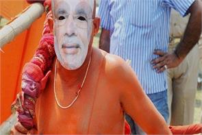 hanuman with modi mask will burn islamabad instead of lanka in delhi ramleela