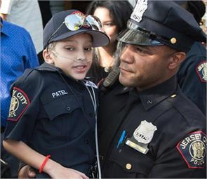 9 years old indian boy made cop in us
