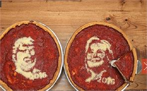presidential candidate campaign on  pizzas