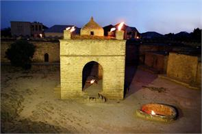 temple of fire where the flame is burning for several years