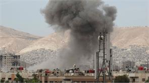 mortar attack on the russian embassy in damascus