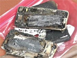 apple iphone 7 catches on fire and burns owners car