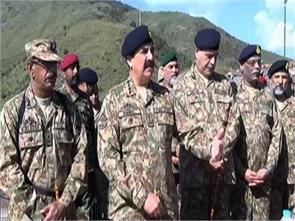 army chief raheel sharif visits loc