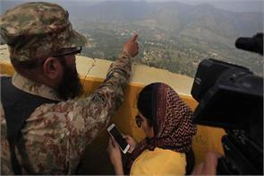 pakistan force make visit international journalist on loc