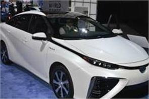 the cars run on hydrogen rather than petrol