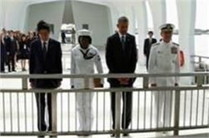 japanese pm shinzo abe and president obama reaffirm ties at pearl harbor
