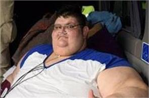 world fattest man aims for half