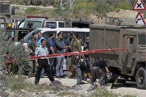 israeli attacks in the west bank palestinian man was injured