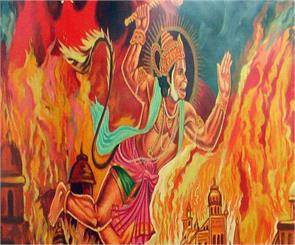 goddess parvati hanuman tail