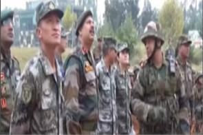 chinese indian border troops hold joint disaster drills