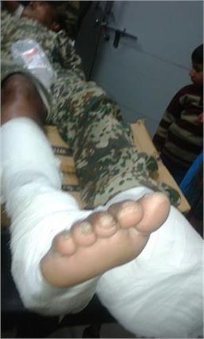bsf soldier injured in mine blast