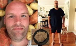 man eat potatoes for a year after his weight rocketed to 151 kg