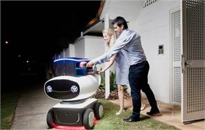 dominos unveil worlds first pizza delivery robot