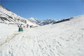 rohtang pass snowfall lahaul valley