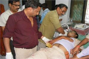suddenly shot away at the residence of former district panchayat president gunner s death
