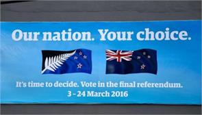 new zealand begins final vote on flag change