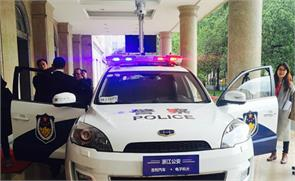 china to catch criminals developed face scanning police car