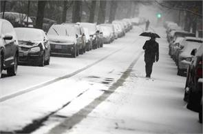 havoc snow storm in the us two killed