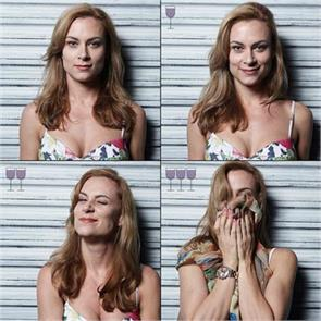 how faces change after 3 glasses of wine