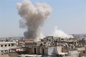 air raid in syria 23 dead