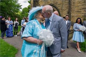 sally and colin dunn on their wedding day