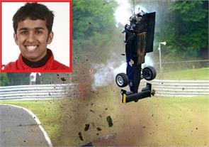 racing driver ameya vaidyanathan cheats death after his car exploded