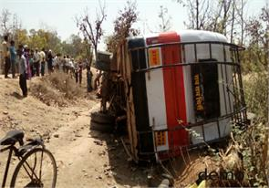 bus overturns killing 4 injuring about 2 dozen