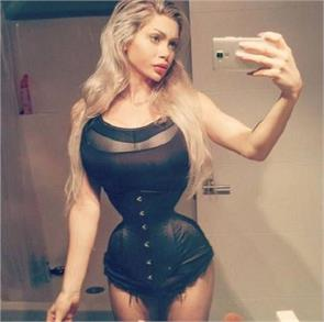 a swedish model removed six ribs surgically in her bid to break the world record