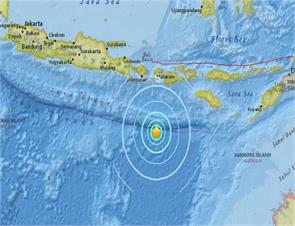 earthquake occurs under the sea in central indonesia