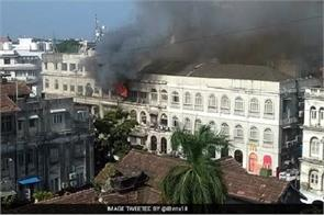 major fire in a building in mumbai s colaba