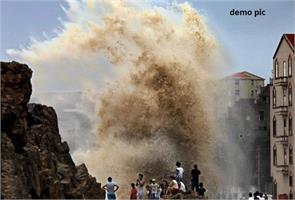 china airport cyclone damaged roads