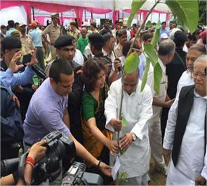 lucknow green up  crore plants