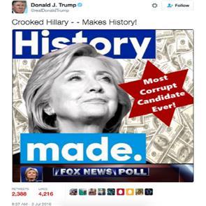 donald trump star of david tweet sparks outrage