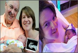 couple 26 year age gap celebrate birth miracle baby